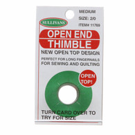 Med Open End Thimble