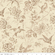 Toile de Jouy - Bird and Floral Cream