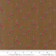 Gratitude - Floral Leaf Stripe Brown