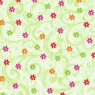 Pecking Order - Tiny Floral LT GRN