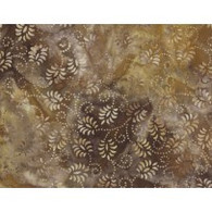 Batiks - Brown Flowers w/Dots
