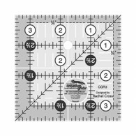 "Creative Grids Quilting Ruler 3 1/2"" Squ"
