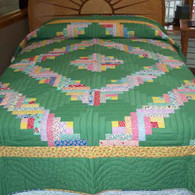 Log Cabin Quilt - Full Size