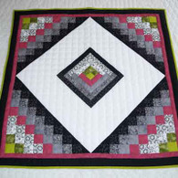 Cabin In The Garden Quilt - Wall Hanging