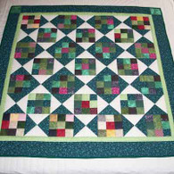 Green Nine Patch Quilt - Wall Hanging