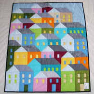 Hilltop Houses Quilt - Wall Hanging