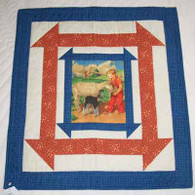 Goats In The Barn Door Quilt - Wall Hanging