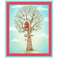 Hangin' Out - Tree House Panel 1 yd