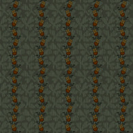 Pumpkin Farm - Floral Stripe Teal