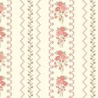 Gentle Garden Flannel - Floral Stripe