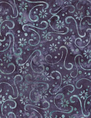 Wilmington Batiks - Floral Patchwork Purple/Blue