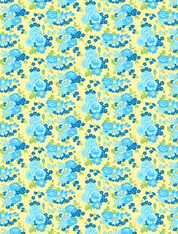 Amorette - Large Floral on Yellow