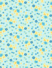 Amorette - Tossed Floral Light Blue