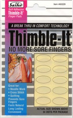 Thimble It Transparent Adhesive Thimble - self-adhesive finger pads