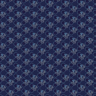 Indigo Cottage - Circle Floral Dark Blue