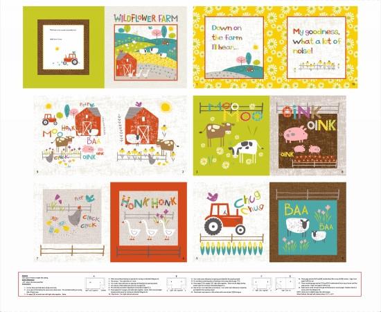 Wildflower Farm - Book Panel 1 yard