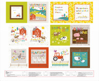 Wildflower Farm - Book Panel  1 yard