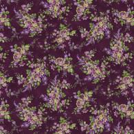Aubergine - Packed Floral Purple