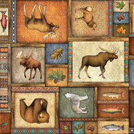 Timberland Trail - Animal Collage Multi