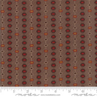 Hickory Road - Dotted Stripe Brown