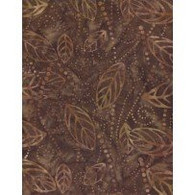 Wilmington Batiks - Brown  Leaf Print