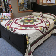 "Trail of Stars Quilt - 104"" by 113"""