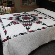 "Lone Star Quilt - 96"" by 109"""