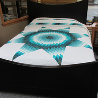 """Lone Star Quilt - 98"""" by 109"""""""