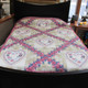 "Heart Irish Chain Quilt - 93"" by 106"""