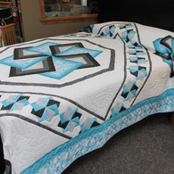 "Star Spin Quilt - 100"" by 118"""