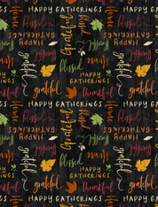 Happy Gatherings - Tossed Words Black