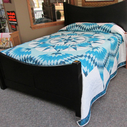 "Mariners Star Quilt - 110"" by 110"""