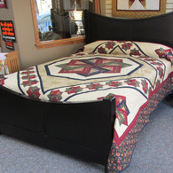 """Star Spin Quilt - 97"""" by 107"""""""