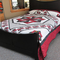 """Star Spin Quilt - 100"""" by 112"""""""