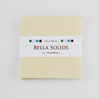 "Bella Solids - Charm 5"" Squares Fig Tree Cream"