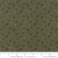Milestones - Small Multi Color Flowers on Green