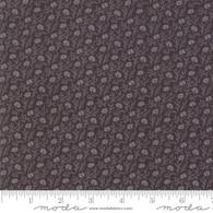 Small Light Grey Flowers on Dark Grey Fabric