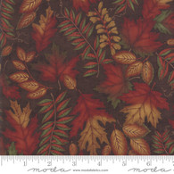 Country Charm - Fern Leaves On Brown