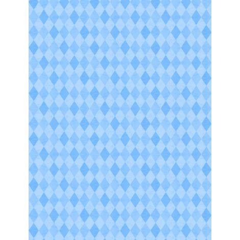 Wilmington Prints Madison Blue Diamonds Tone on Tone Fabric