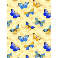 Wilmington Prints Madison Butterflies on Yellow Fabric