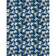 Wilmington Prints Madison Small White Flowers on Navy fabric