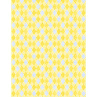 Wilmington Prints Madison Yellow and Gray Diamonds fabric
