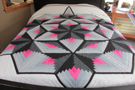 "Diamond Blending Star Quilt - 101"" by 113"""