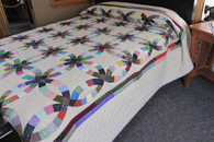 "Double Wedding Ring Quilt - 102"" by 111"""