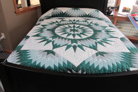 "Mariners Star Quilt   112"" by 112"""