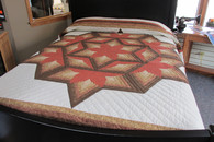 "Chrysalis Star Quilt  - 101"" by 112"""