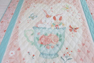 Teacup with Bunnies Crib Quilt - 40 by 55