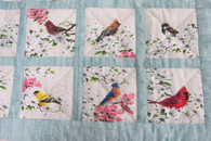 Birds Throw/Lap  Quilt - 48x53