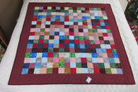 Patchwork Throw/Lap  Quilt - 48x48