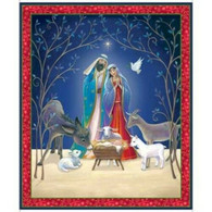 Christ is Born Panel - 1 yard